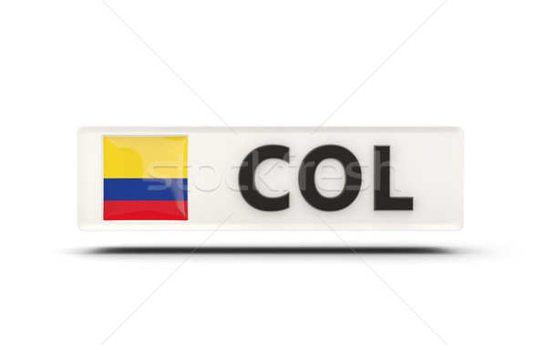 Square icon with flag of colombia Stock photo © MikhailMishchenko
