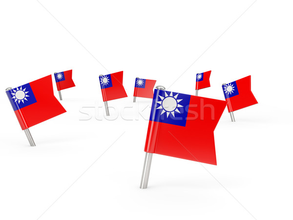 Square pins with flag of republic of china Stock photo © MikhailMishchenko