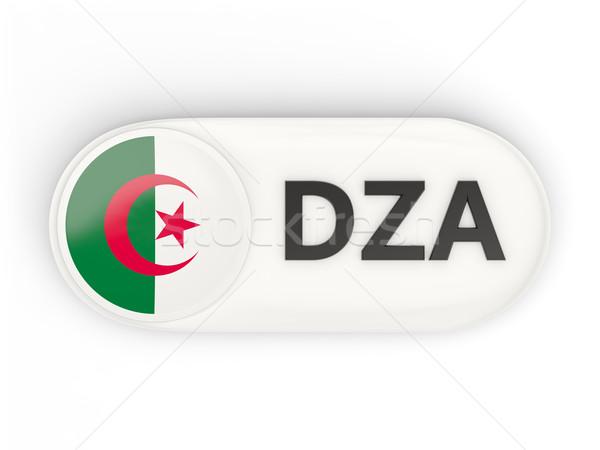 ícone bandeira Argélia iso código país Foto stock © MikhailMishchenko