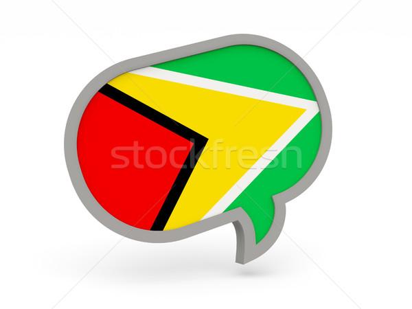 Chat icon vlag Guyana geïsoleerd witte Stockfoto © MikhailMishchenko