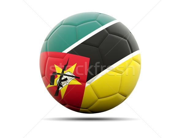 Futebol bandeira Moçambique ilustração 3d futebol esportes Foto stock © MikhailMishchenko