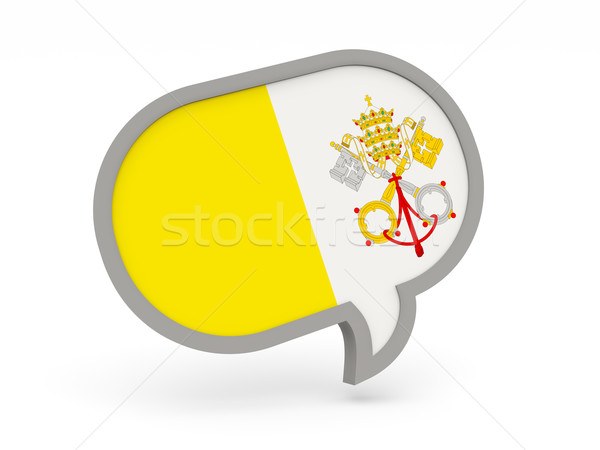 Chat icon with flag of vatican city Stock photo © MikhailMishchenko