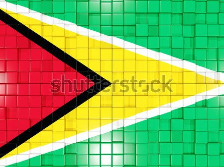 Background with square parts. Flag of zimbabwe. 3D illustration Stock photo © MikhailMishchenko