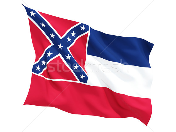 Flag of mississippi, US state fluttering flag Stock photo © MikhailMishchenko
