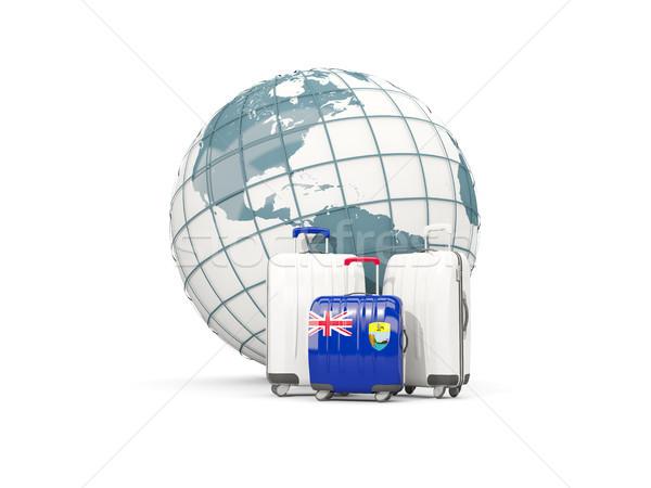 Bagaj bayrak aziz üç çanta dünya Stok fotoğraf © MikhailMishchenko