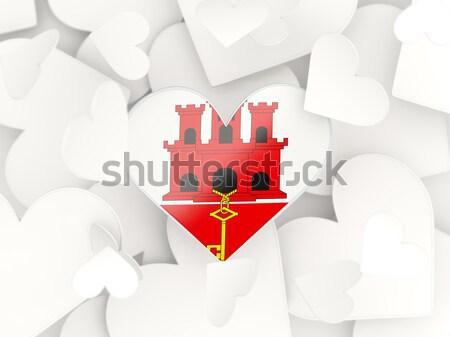 Banderą gibraltar circles wzór odizolowany biały Zdjęcia stock © MikhailMishchenko