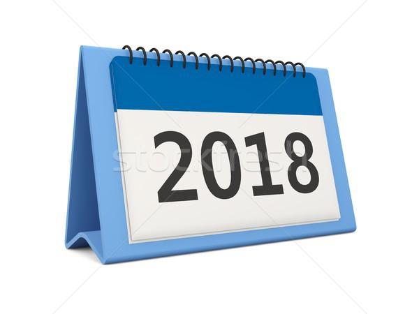 Año nuevo calendario icono aislado blanco 3d Foto stock © MikhailMishchenko