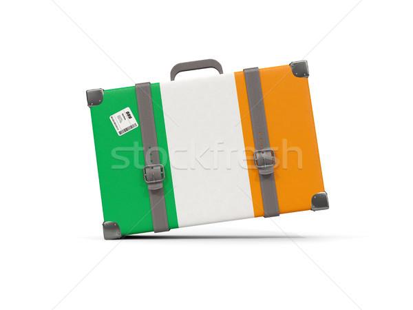 Equipaje bandera Irlanda maleta aislado blanco Foto stock © MikhailMishchenko