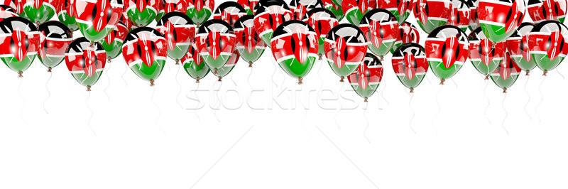Léggömbök keret zászló Kenya izolált fehér Stock fotó © MikhailMishchenko