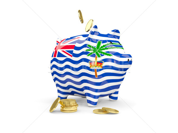 Fat piggy bank with fag of british indian ocean territory Stock photo © MikhailMishchenko