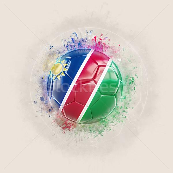 Гранж футбола флаг Намибия 3d иллюстрации Мир Сток-фото © MikhailMishchenko