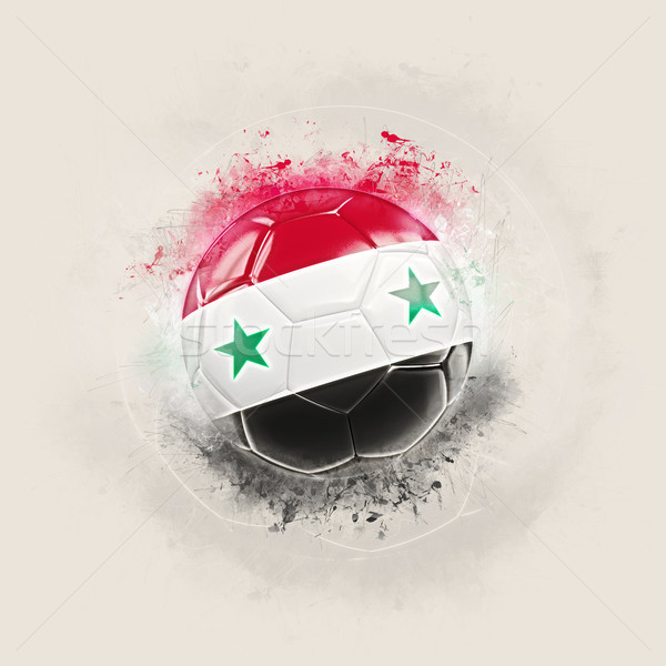 Grunge voetbal vlag Syrië 3d illustration wereld Stockfoto © MikhailMishchenko