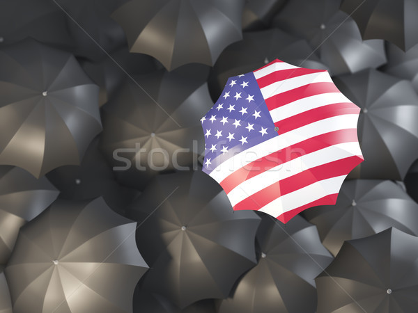 Umbrella with flag of united states of america Stock photo © MikhailMishchenko