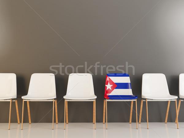 Chair with flag of cuba Stock photo © MikhailMishchenko