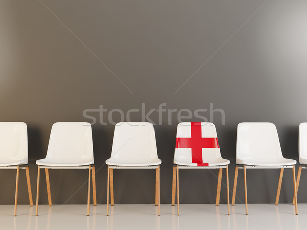Chair with flag of england Stock photo © MikhailMishchenko