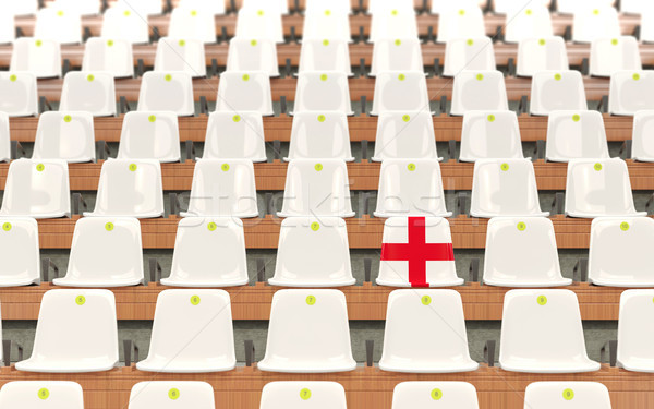 Estadio asiento bandera Inglaterra blanco Foto stock © MikhailMishchenko