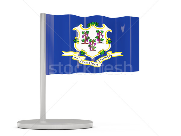 Flag pin with flag of connecticut. United states local flags Stock photo © MikhailMishchenko