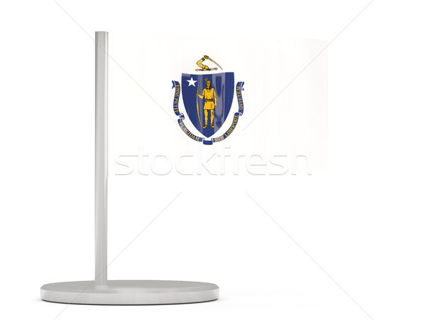 флаг Pin Массачусетс Соединенные Штаты местный флагами Сток-фото © MikhailMishchenko