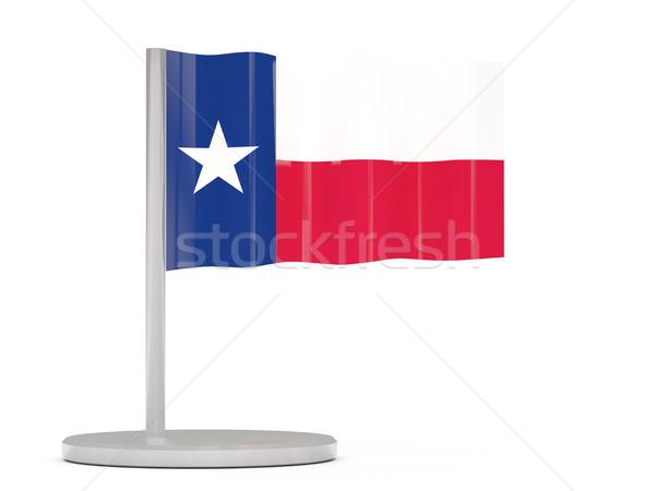 Banderą pin Texas Stany Zjednoczone miejscowy flagi Zdjęcia stock © MikhailMishchenko