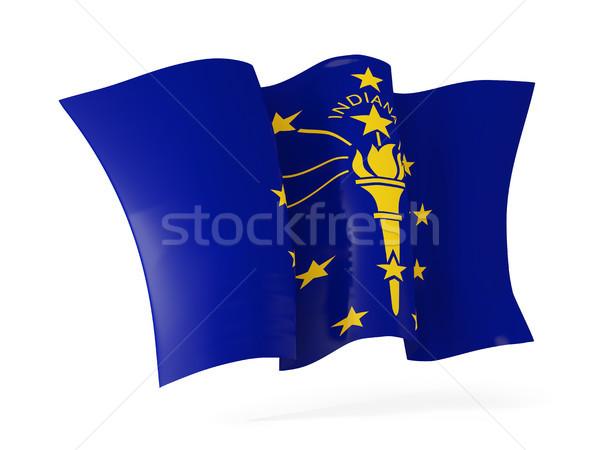 Indiana zászló integet ikon közelkép Egyesült Államok Stock fotó © MikhailMishchenko