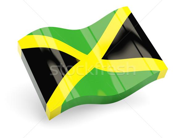 3D bayrak Jamaika yalıtılmış beyaz seyahat Stok fotoğraf © MikhailMishchenko