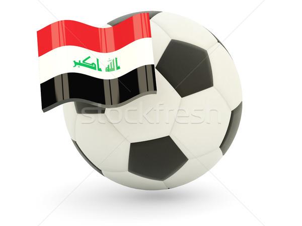 Voetbal vlag Irak geïsoleerd witte sport Stockfoto © MikhailMishchenko