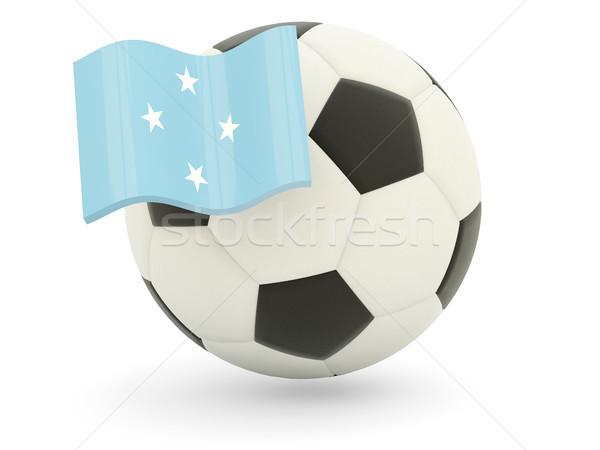 サッカー フラグ ミクロネシア 孤立した 白 スポーツ ストックフォト © MikhailMishchenko