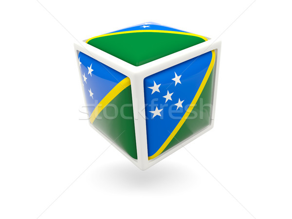 Flag of solomon islands. Cube icon Stock photo © MikhailMishchenko