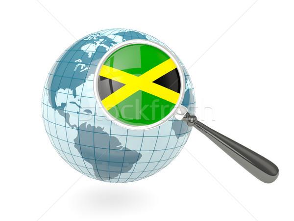 Photo stock: Pavillon · Jamaïque · bleu · monde · isolé