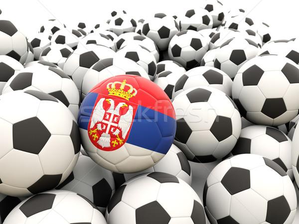 Futebol bandeira Sérvia regular verão Foto stock © MikhailMishchenko