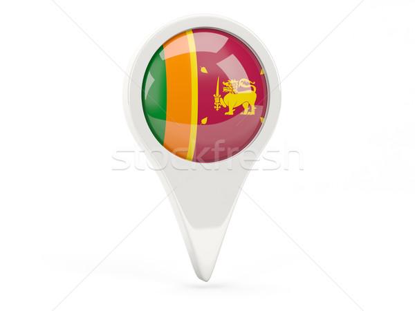 Vlag icon Sri Lanka geïsoleerd witte kaart Stockfoto © MikhailMishchenko