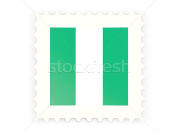 Postage stamp icon of nigeria Stock photo © MikhailMishchenko