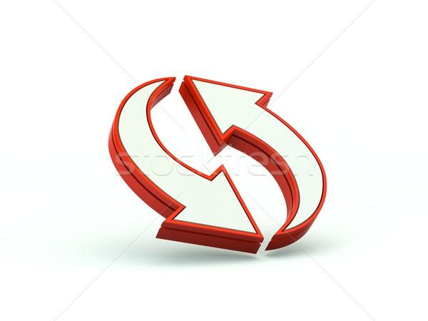 Foto stock: Flechas · icono · rojo · Internet · flecha