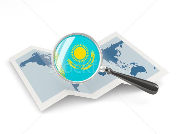 флаг Казахстан карта белый Сток-фото © MikhailMishchenko