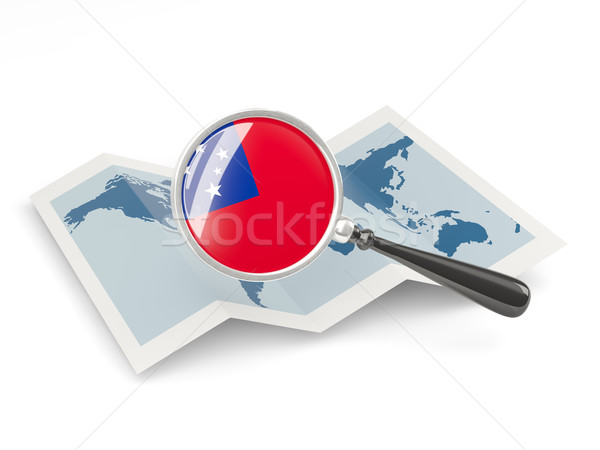 Magnified flag of samoa with map Stock photo © MikhailMishchenko