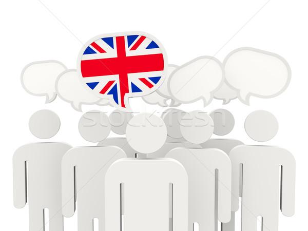 People with flag of united kingdom Stock photo © MikhailMishchenko
