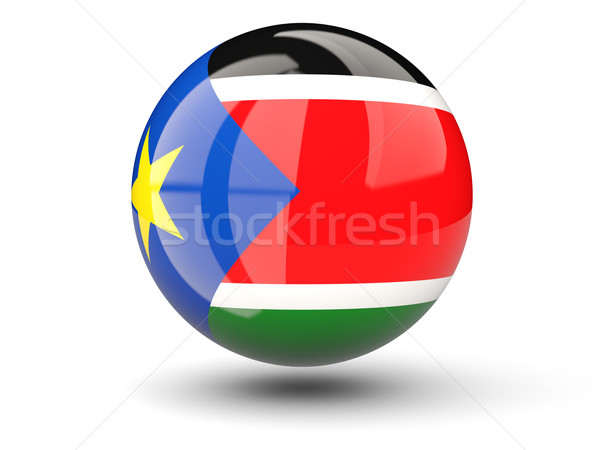 Round icon of flag of south sudan Stock photo © MikhailMishchenko