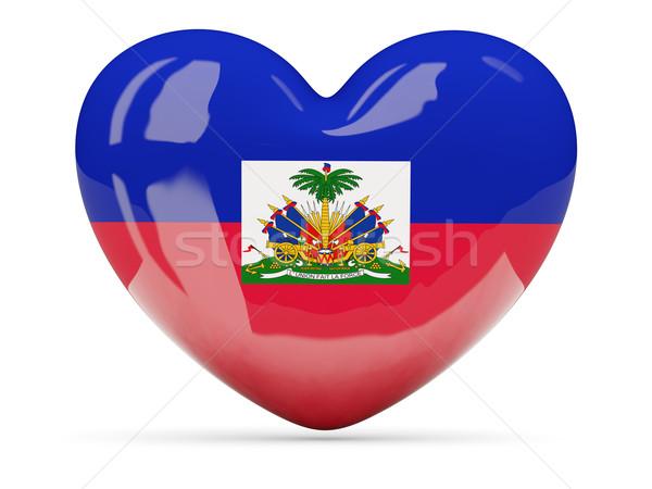 Kalp ikon bayrak Haiti yalıtılmış Stok fotoğraf © MikhailMishchenko