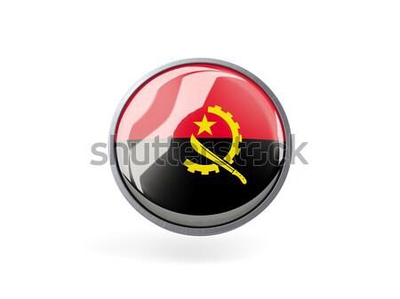 Düğme bayrak Tiftik dokuma Metal çerçeve seyahat Stok fotoğraf © MikhailMishchenko