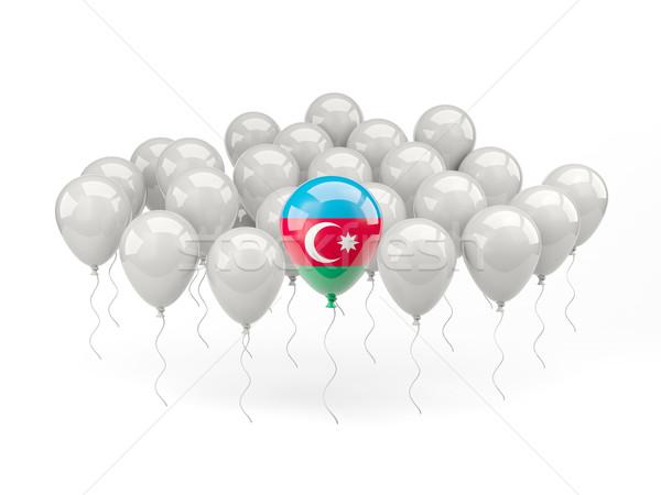 Aire globos bandera Azerbaiyán aislado blanco Foto stock © MikhailMishchenko