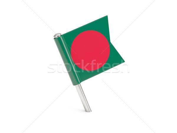 Zászló tő Banglades izolált fehér világ Stock fotó © MikhailMishchenko