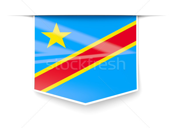 квадратный Label флаг демократический республика Конго Сток-фото © MikhailMishchenko