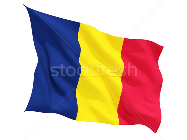 Waving flag of chad Stock photo © MikhailMishchenko