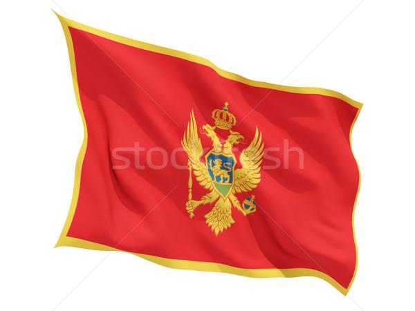 Waving flag of montenegro Stock photo © MikhailMishchenko