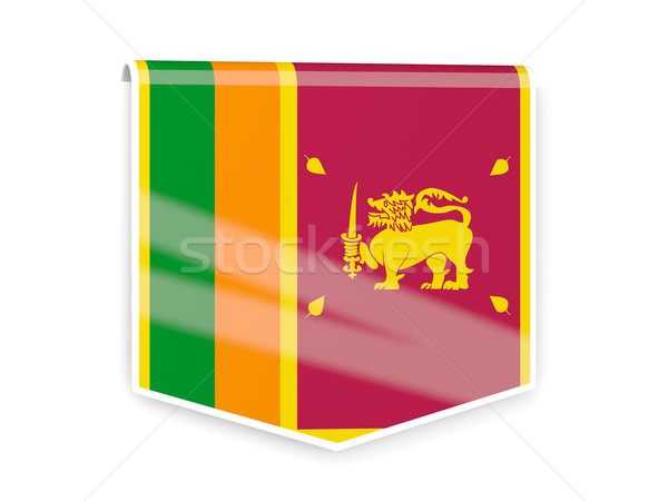 Flag label of sri lanka Stock photo © MikhailMishchenko
