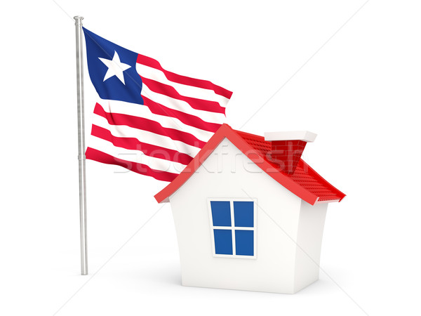 House with flag of liberia Stock photo © MikhailMishchenko