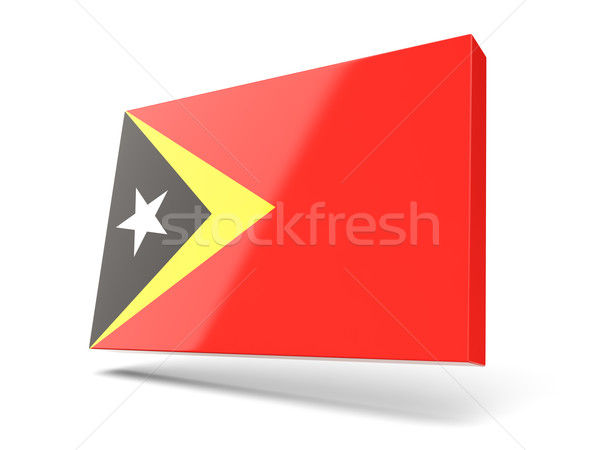 Square icon with flag of east timor Stock photo © MikhailMishchenko