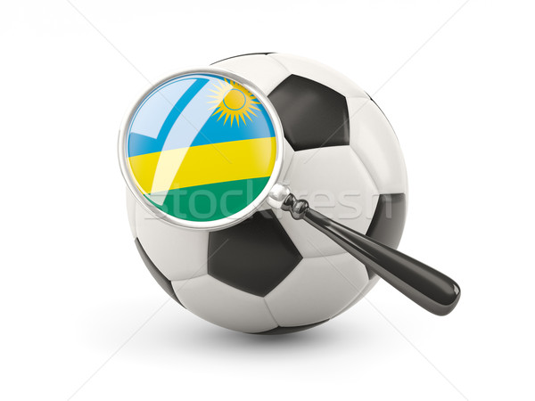 Football with magnified flag of rwanda Stock photo © MikhailMishchenko