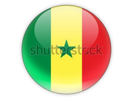 Icône pavillon Sénégal isolé blanche Voyage Photo stock © MikhailMishchenko