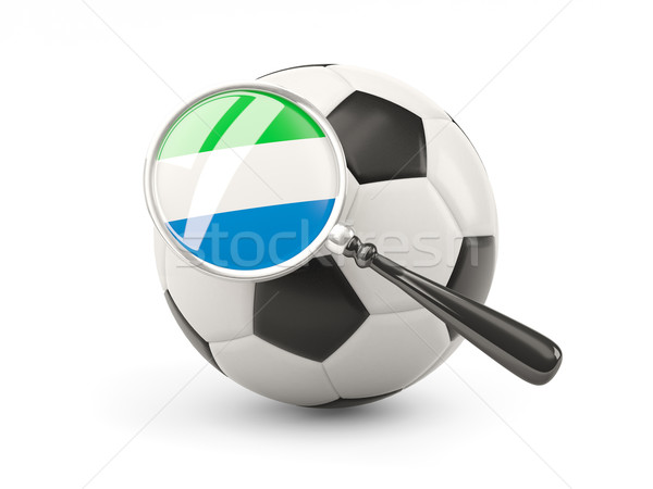 Football with magnified flag of sierra leone Stock photo © MikhailMishchenko